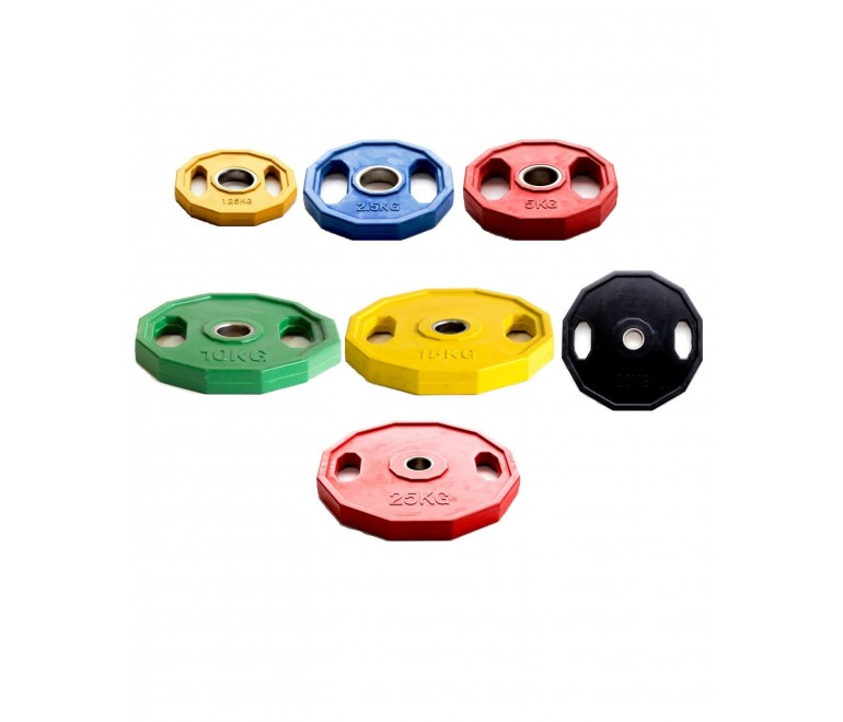Plate Weights Rubber Coated...